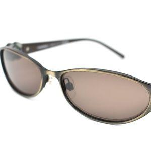 57f0fdce6a7 CHANEL Camellia Dark Bronze Metal CC Sunglasses ac